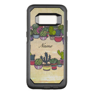 Personalized Cactus Wreath OtterBox Commuter Samsung Galaxy S8 Case