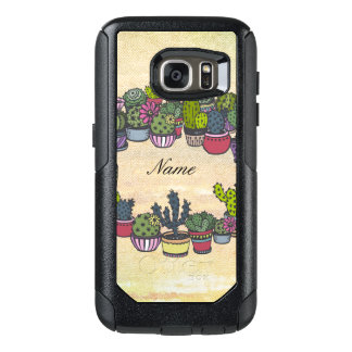 Personalized Cactus Wreath OtterBox Samsung Galaxy S7 Case