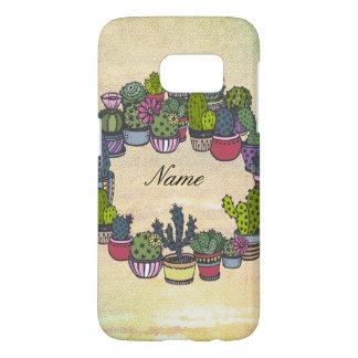 Personalized Cactus Wreath Samsung Galaxy S7 Case