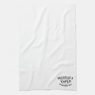 Personalized Cafe Kitchen Towel