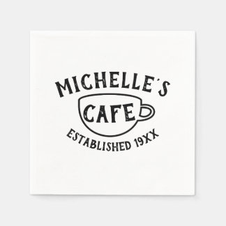 Personalized Cafe Paper Napkin