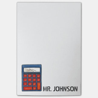 Personalized Calculator Math Teacher Gift Post-It Post-it Notes