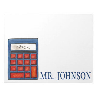 Personalized Calculator Math Teacher Notepad