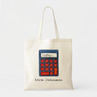 Personalized Calculator Math Teacher Teaching Tote