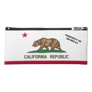 Personalized California Republic flag pencil case