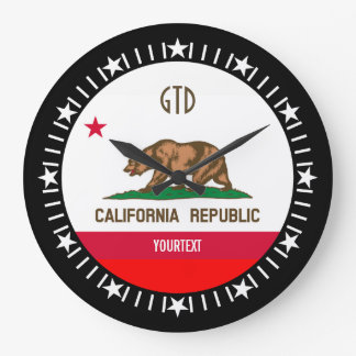 Personalized California State Flag Design on a Large Clock