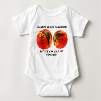 Personalized Call Me Peaches Baby Baby Bodysuit