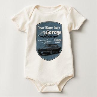 Personalized Camaro Garage Baby Bodysuit