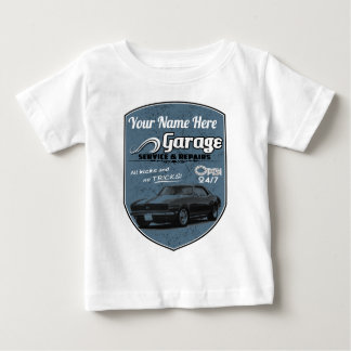 Personalized Camaro Garage Baby T-Shirt