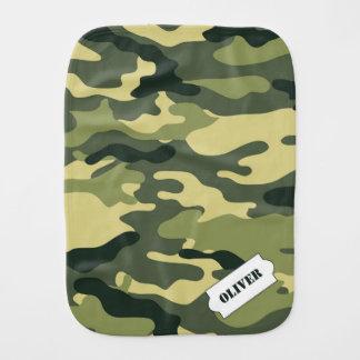 Personalized Camo burp cloth, green camouflage Burp Cloth