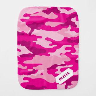 Personalized Camo burp cloth, pink camouflage Burp Cloth
