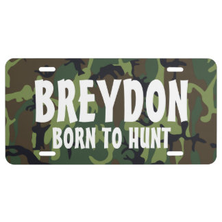 Personalized Camo Hunting Tags License Plate