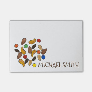 Personalized Camp Camping Trail Mix Post Its Post-it® Notes