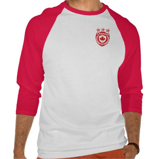 Personalized canada sport jersey 3 4 sleeve raglan tee for Personalized t shirts canada