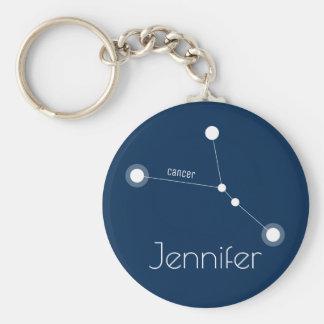 Personalized Cancer Zodiac Constellation Keychain