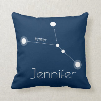 Personalized Cancer Zodiac Constellation Throw Pillow