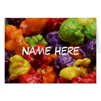 Personalized Candied Popcorn Greeting Card