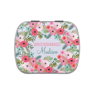 Personalized candy tin Bridesmaid gift wedding