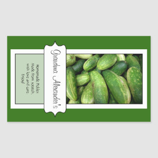 Personalized Canning Jar Label, Cucumber Pickle
