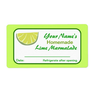 Personalized Canning Labels Lime Preserves Pickles