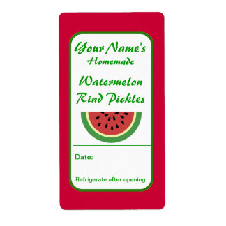 Personalized Canning Labels Watermelon Rind Pickle Custom Shipping Labels
