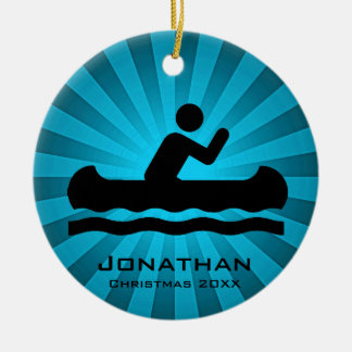 Personalized Canoeing Ornament