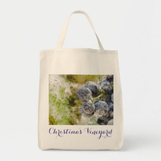 Personalized Canvas Grapes Grocery Bag