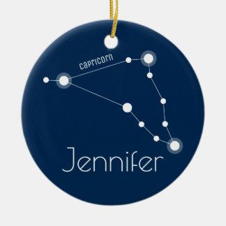 Personalized Capricorn Constellation Ornament
