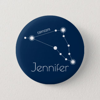 Personalized Capricorn Zodiac Constellation 2 Inch Round Button