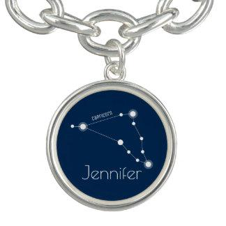 Personalized Capricorn Zodiac Constellation Bracelet