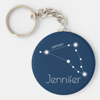 Personalized Capricorn Zodiac Constellation Keychain