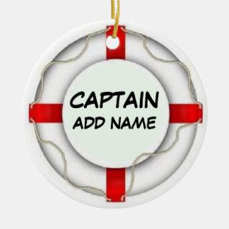 Personalized Captain Ceramic Ornament