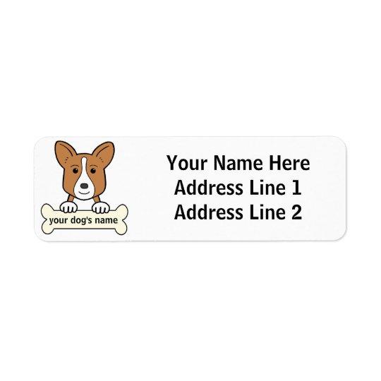 Personalized Cardigan Welsh Corgi Return Address Label