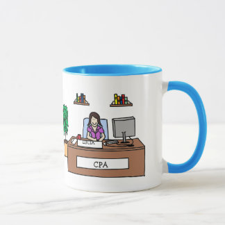 Personalized cartoon mug- Accounting or CPA Mug
