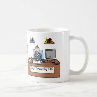Personalized cartoon mug w company name
