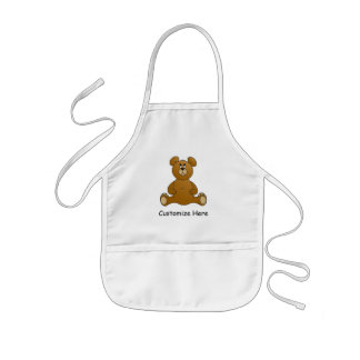 Personalized Cartoon Teddy Bear Kids Apron
