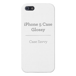 Personalized Case-Savvy iPhone 5 Glossy Cover iPhone 5/5S Covers
