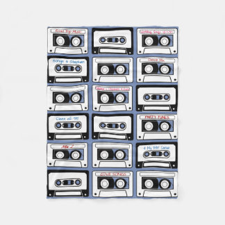 Personalized Cassette Tapes Design Fleece Blanket
