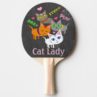 Personalized Cat Lady Cat Lover Ping Pong Paddle