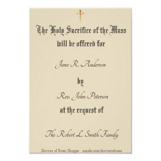 Personalized Catholic Mass Offering Card
