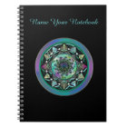 Personalized Celtic Mandala with Mystical Symbols Notebook