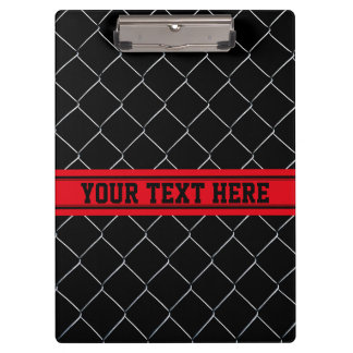 Personalized Chain Link Fence Pattern Clipboard