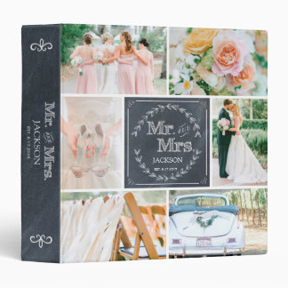 PERSONALIZED CHALK WEDDING PHOTO COLLAGE ALBUM BINDER