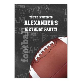 "Personalized Chalkboard American Football 5"" X 7"" Invitation Card"