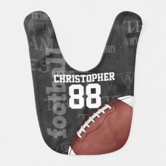 Personalized Chalkboard American Football Bib