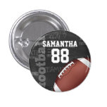 Personalized Chalkboard American Football 1 Inch Round Button