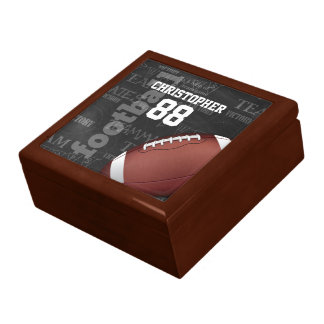 Personalized Chalkboard American Football Gift Boxes