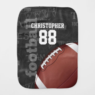 Personalized Chalkboard American Football Baby Burp Cloth