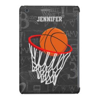 Personalized Chalkboard Basketball and Hoop iPad Mini Retina Case