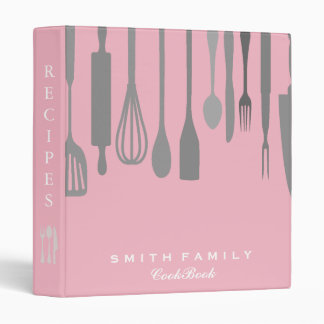 Personalized Chalkboard Family Recipe Cookbook Binder